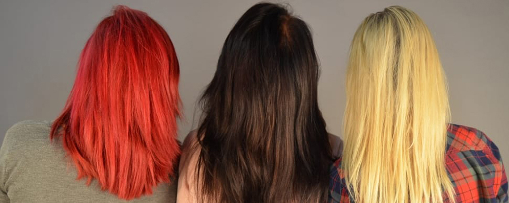 Colored hair women