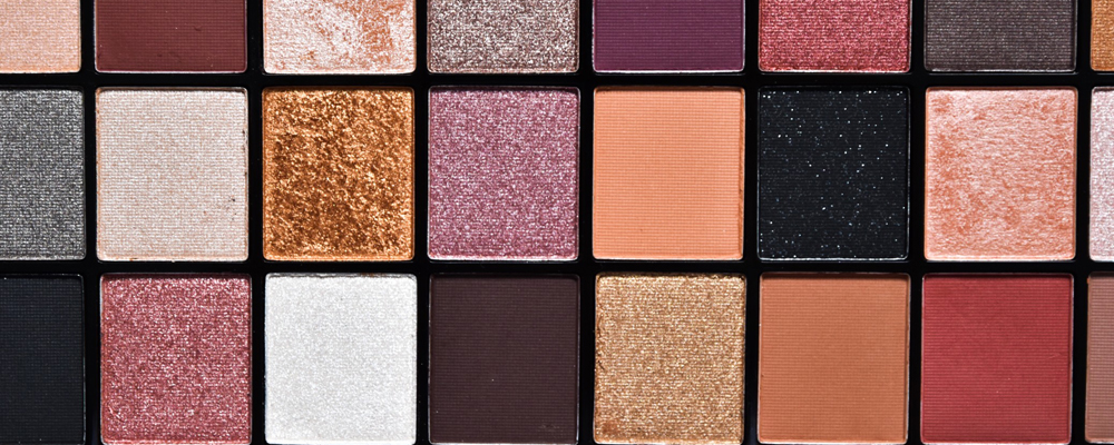 Close up of the eyeshadow palette