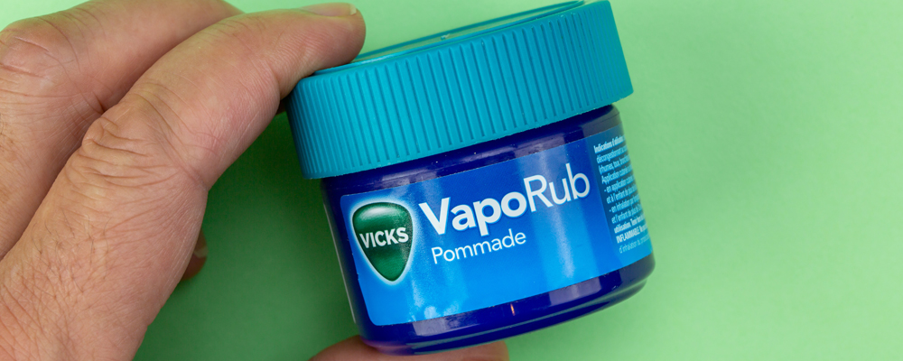 Bottle of vicks vaporub