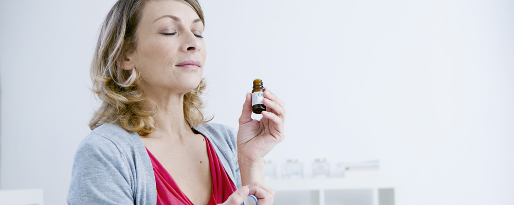 Smelling essential oil