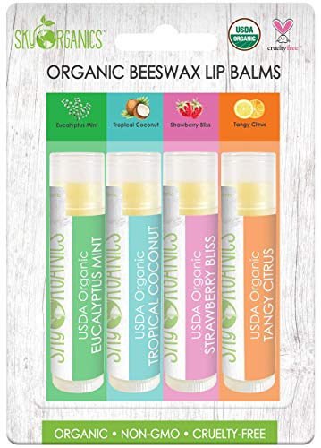 USDA Organic Flavored Beeswax Lip Balm